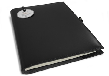 Picture of Acuto Handmade Italian Leather Bound A5 Refillable Journal Black Plain