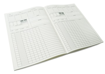 Picture of ilCarta Italian Paper Refillable A4 Yacht Logbook Cream