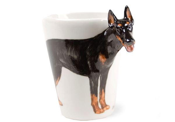Picture of Doberman Handmade 8oz Coffee Mug