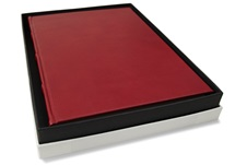 Picture of Chianti Handmade Italian Leather Bound A4 Journal Burgundy Plain