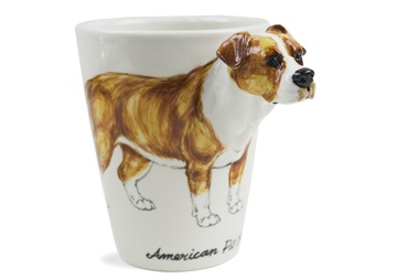 Picture of Pit Bull Terrier Handmade 8oz Coffee Mug Fawn Natural Ear