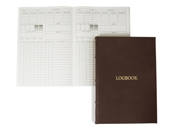 Picture of Chianti Handmade Italian Leather Bound A4 Yacht Logbook Chocolate