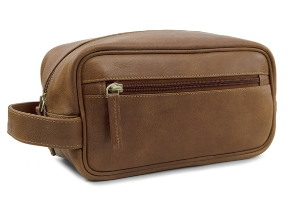 Picture of Wilson Handmade Leather Wash Bag Small Copper