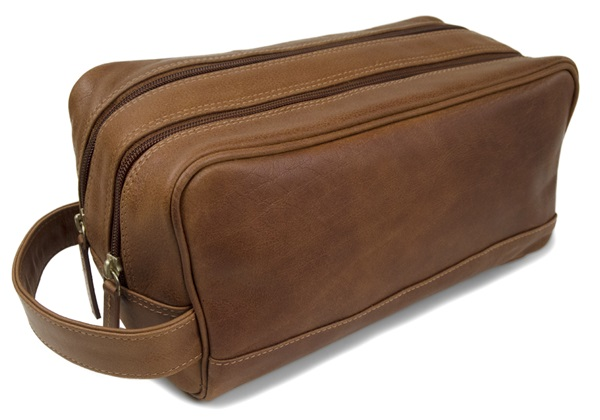 Picture of Wilson Handmade Leather Wash Bag Large Copper
