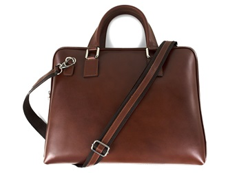 Picture of Esecutivo Handcrafted in Italy Business Bag Medium Tan
