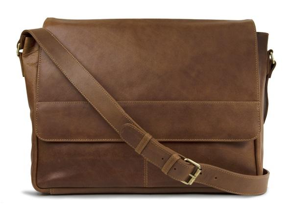 Picture of Wayfarer Handmade Leather Messenger Bag Large Copper