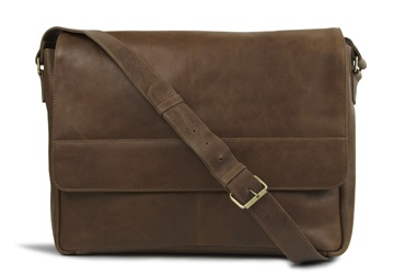 Picture of Wayfarer Handmade Leather Messenger Bag Large Tan