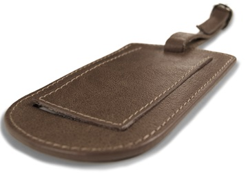 Picture of Matador Handmade Leather Luggage Tag Regular Tan