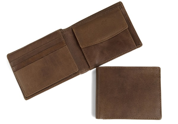 Picture of Fat Boy Handmade Leather RFID Regular Wallet Tan