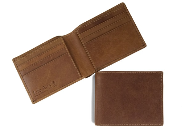 Picture of Slim Boy Wallet with RFID Blocking Cognac