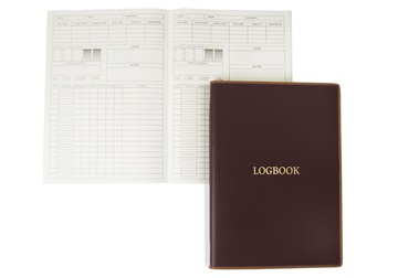 Picture of Cortona Handmade Italian Leather A4 Yacht Logbook Burgundy