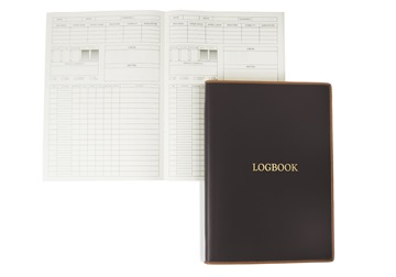 Picture of Cortona Handmade Italian Leather A4 Yacht Logbook Chocolate