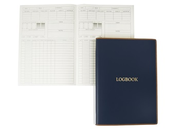 Picture of Cortona Handmade Italian Leather A4 Yacht Logbook Navy