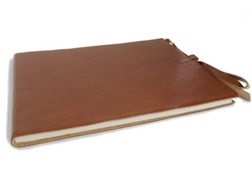 Picture of Rustico Handmade Leather Bound Guest Book Extra Large Saddle Brown