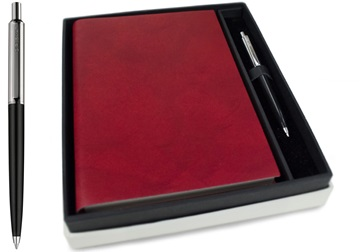 Picture of Nabucco Handmade Leather A5 Journal Burgundy Plain Gift Set