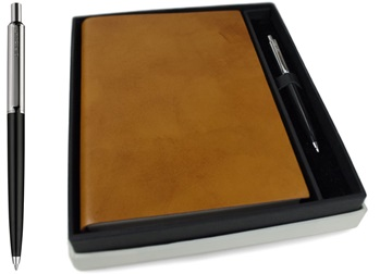 Picture of Nabucco Handmade Leather A5 Journal Tan Plain Gift Set