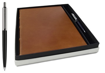 Picture of Chianti Handmade Italian Leather Bound A4 Journal Saddlebrown Plain