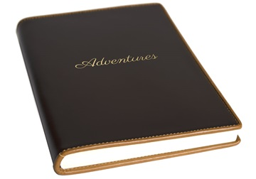 Picture of Cortona Handmade Italian Leather Bound A5 Journal Chocolate Plain