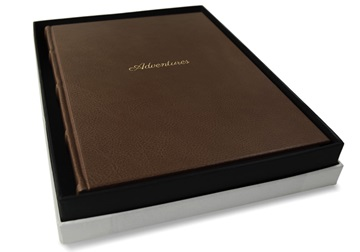 Picture of Chianti Handmade Italian Leather Bound A4 Adventures Journal Chocolate Plain