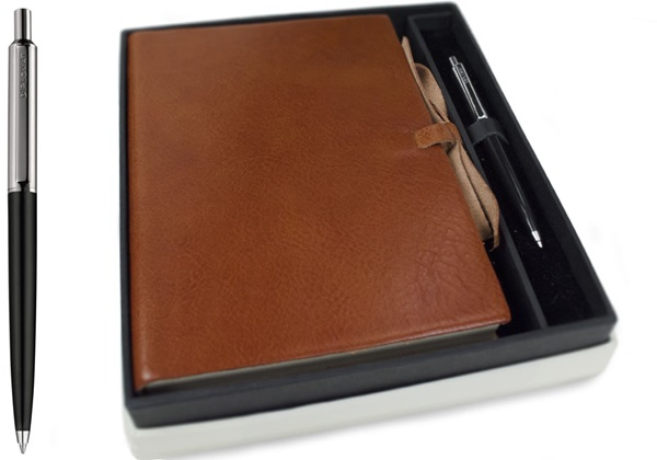 Picture of Rustico Handmade Leather Bound A5 Journal Saddle Brown Plain