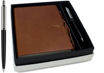 Picture of Rustico Handmade Leather Bound A6 Journal Saddle Brown Plain