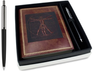 Picture of Storia Handmade A6 Journal Leonardo Chestnut Plain