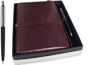 Picture of Positano Handmade Leather Wrap A5 Journal Burgundy Plain