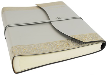 Picture of Angelus Handmade Italian Recycled Leather Wrap Large Photo Album Gold