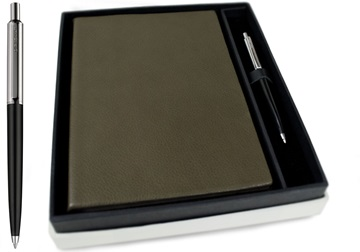 Picture of Italiano Handmade 100 % Italian Genuine Calf Leather A5 Journal Top-grain Olive Plain