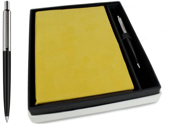 Picture of Italiano Handmade 100 % Italian Genuine Calf Leather A5 Journal Top-grain Mustard Plain