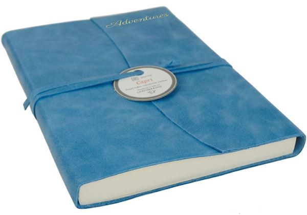 Picture of Capri Handmade Italian Leather Wrap A5 Adventures Journal