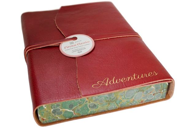 Picture of Firenze Classico Handmade Italian Leather Wrap A5 Adventures Journal
