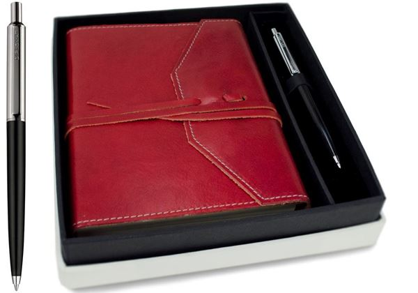 Picture of Tudor Handmade Leather Wrap A6 Journal