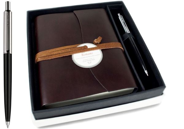 Picture of Romano Handmade Recycled Leather Wrap A6 Journal