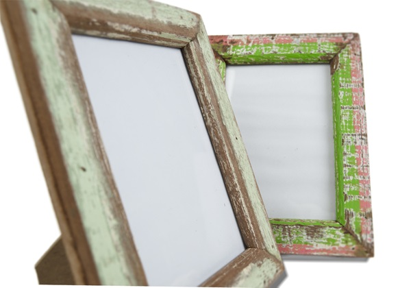 Picture of Rustic Beach Handmade Reclaimed Small Photo Frame Antique Green