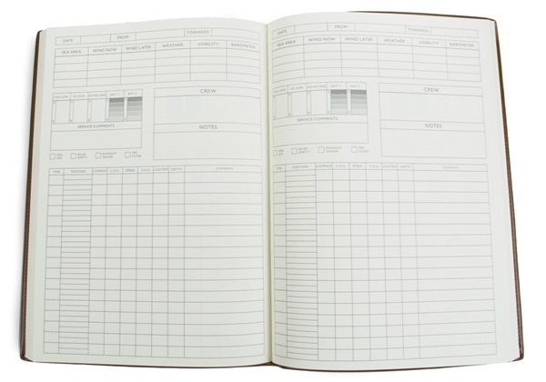 Picture of Chianti Handmade Italian Leather Bound A4 Yacht Logbook Black