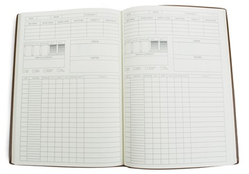 Picture of Cortona Handmade Italian Leather A4 Yacht Logbook Black