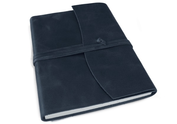 Picture of Amalfi Handmade Leather Journal A5 Navy Plain