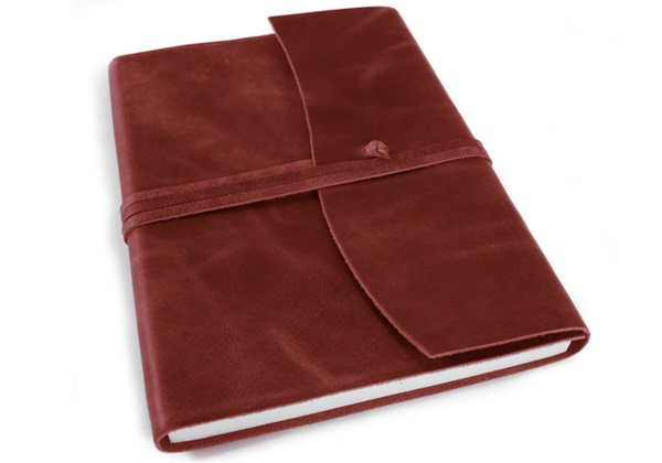 Picture of Amalfi Handmade Leather Journal A5 Burgundy Plain