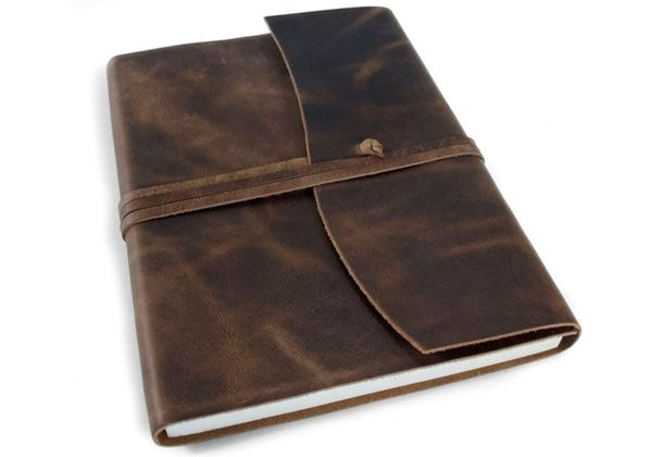 Picture of Amalfi Handmade Italian Leather Wrap A5 Journal