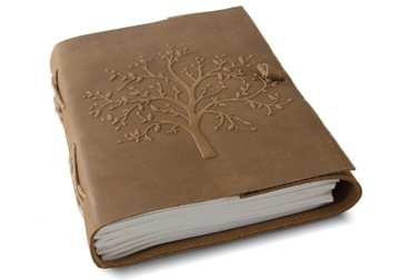 Picture of Dali Handmade Tree of Life Journal Tan Plain